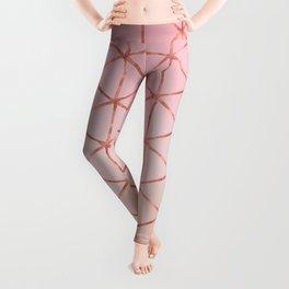 Triangle Pattern - Rose Gold Leggings