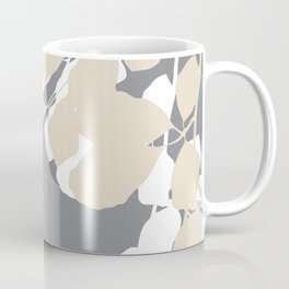 leaves grey and tan Coffee Mug