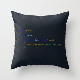 C# Hello World Throw Pillow