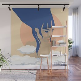 Sun Above the Clouds Wall Mural