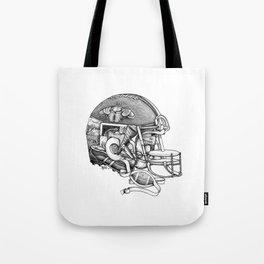 Football Helmet Tote Bag