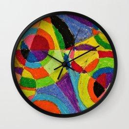 Color Explosion by Robert Delaunay Wall Clock