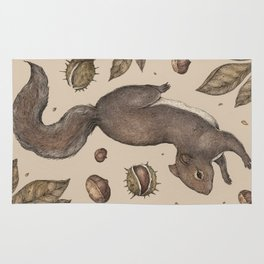 The Squirrel and Chestnuts Rug