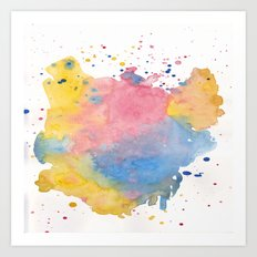 RAINBOW SPLATTER Art Print