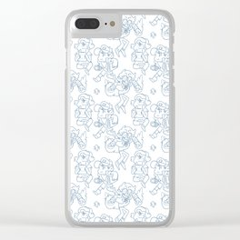 Dipper Pines Pattern Clear iPhone Case