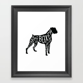 I Only Care About My Boxer.. Framed Art Print