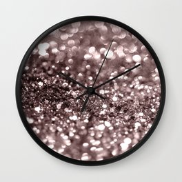 Sparkling Mauve Lady Glitter #2 #shiny #decor #art #society6 Wall Clock