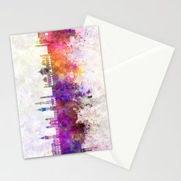 Lahore skyline in watercolor background Stationery Cards