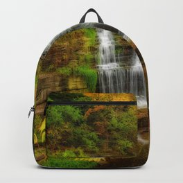 Photos New York City USA Hector falls Nature Waterfalls Parks park Backpack