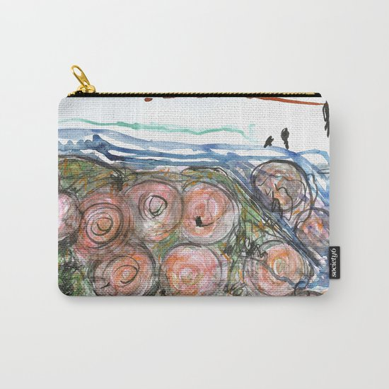 Watered Roses Carry-All Pouch