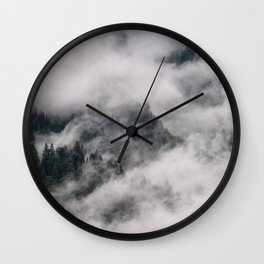 Forest - Trees - Clouds - Fog. Little sweet moments. Wall Clock