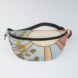 Sunshine Through Leaves Watercolor Painting Fanny Pack