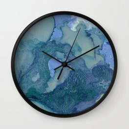 Ink in Blue and Green Wall Clock