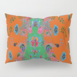 orange speaks in floral tones Pillow Sham