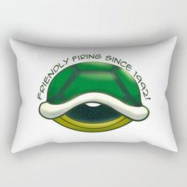 Friendly Firing Since 1992 Green Shell Mariokart Nintendo Rectangular Pillow