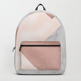 Bermuda bronze - rose gold marble. Backpack