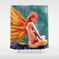 passion Shower Curtains featuring Passion by Rhiannongigglegoddess