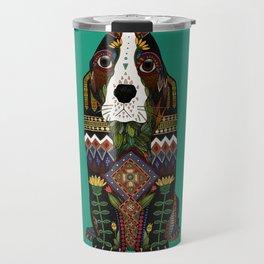 Basset Hound jade Travel Mug
