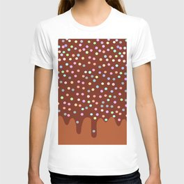 Dripping Melted chocolate Glaze with sprinkles T-shirt
