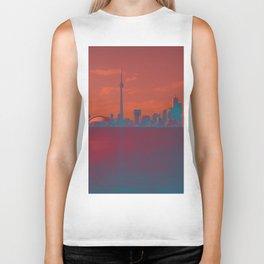 CN Tower skyline Biker Tank