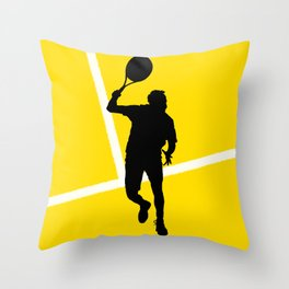 TENNIS Forehand Lines Throw Pillow