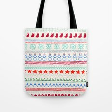 Christmas Doodles Tote Bag