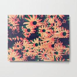 Flowers Divided Metal Print