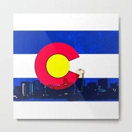 Denver Colorado skyline vibrant Metal Print