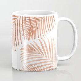 Rose Gold Palm Leaves Coffee Mug