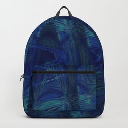 Abstract Sine Waves Blue Backpack