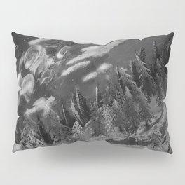 Winter mountain cabin Pillow Sham