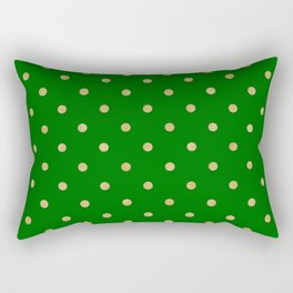 gold dot on green Rectangular Pillow
