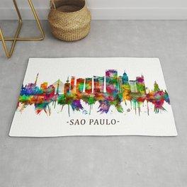 Sao Paulo Brazil Skyline Rug