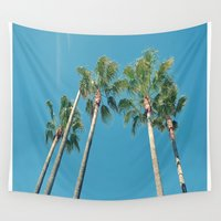 palm tree Wall Tapestries featuring Palm tree by Laura James Cook