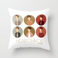 tegan and sara Throw Pillows featuring Tegan and Sara: Heartthrob collection by Cas.
