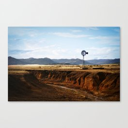 Western Windmill Canvas Print