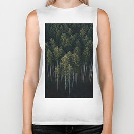 Aerial Photograph of a pine forest in Germany - Landscape Photography Biker Tank