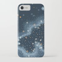 8bit iPhone & iPod Cases featuring Grey Rift Galaxy (8bit) by Sarajea