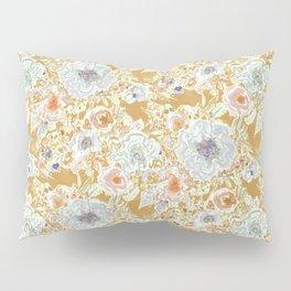 GROOVY PARADISE Golden Hibiscus Floral Pillow Sham