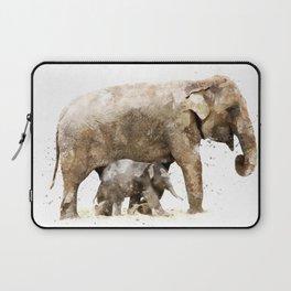 Elephant poster, watercolor elephant, animal print Laptop Sleeve