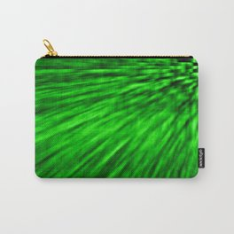 Emerald Pixel Wind Carry-All Pouch