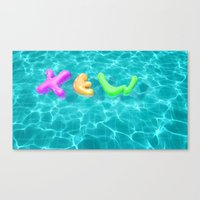 pool Canvas Prints featuring Pool by yingxew