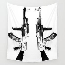 BLACK AK 47 Wall Tapestry