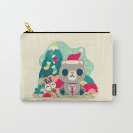 Holiday Woodland Bear / Cute Animal Carry-All Pouch