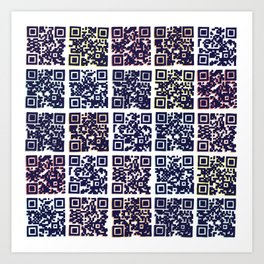 QR Codes to Playlists Art Print