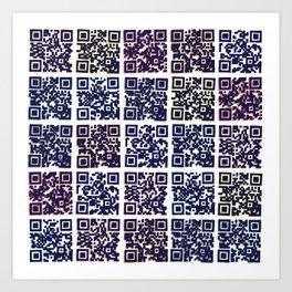 QR Codes to Playlists Art Print