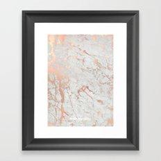 Rose gold marble Framed Art Print