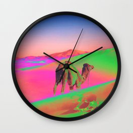 Psychedelic Sand Dunes 2 - Rainbow Wall Clock