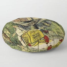 Seeing America First, With the Berry Brothers (1917) Floor Pillow