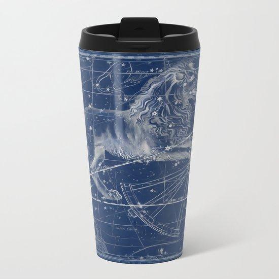 Leo sky star map Metal Travel Mug